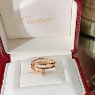 Cartier - 売り上げ Cartier カルティエ リング  7号 正規品 刻印ロゴ