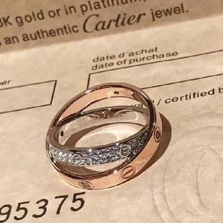 Cartier - Cartier カルティエ リング 7号 正規品 刻印ロゴ