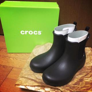 クロックス(crocs)の【レインブーツ】クロックス フリーセイル チェルシー ブーツ ウィメン 黒(レインブーツ/長靴)