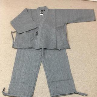 創作木綿 作務衣  グレー