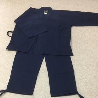 創作木綿 作務衣  紺