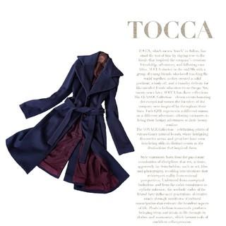 TOCCA - 高級 美品 トッカ 豪華おしゃれベルテッドコート 艶生地 モダンスタイル
