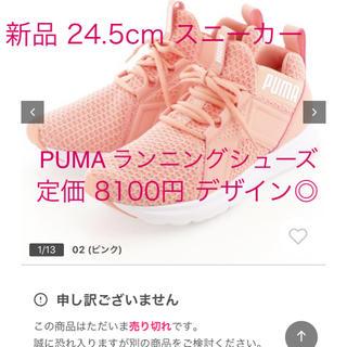 プーマ(PUMA)の未使用 今期購入 24.5cm ランニングシューズ ピンク PUMA(スニーカー)