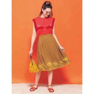 チェスティ(Chesty)の即購入可能★chesty サマー刺繍セットアップ スカート(ひざ丈スカート)