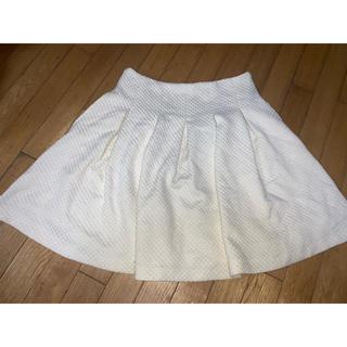 ローリーズファーム(LOWRYS FARM)のミニフレアスカート ホワイト(ミニスカート)