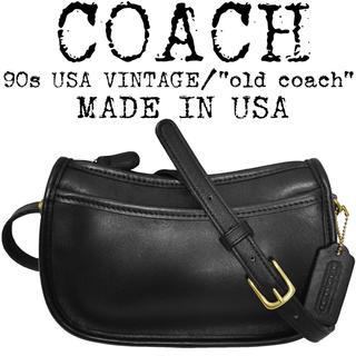 コーチ(COACH)の美品★COACH★オールド コーチ★90s★ショルダーバッグ★USA製★ブラック(ショルダーバッグ)