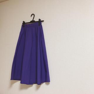 ビーミングライフビームス パープル スカート(ロングスカート)