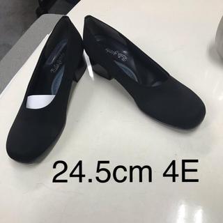 レディース布製パンプス撥水加工24.5cm 4Eサイズいろいろ(ハイヒール/パンプス)