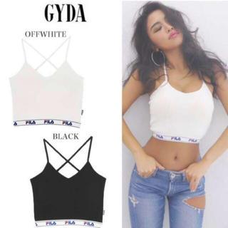 GYDA - GYDA FILA キャミソール ビスチェ ホワイト