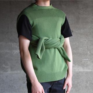 RAF SIMONS - kudos flont holes pullover knit 19ss