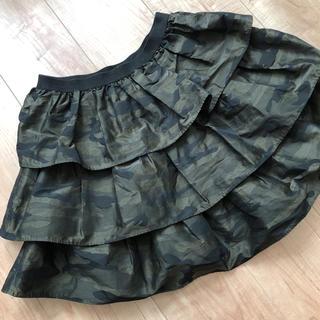 マーキュリーデュオ(MERCURYDUO)の三段フリル 迷彩柄 タフタスカート (ミニスカート)