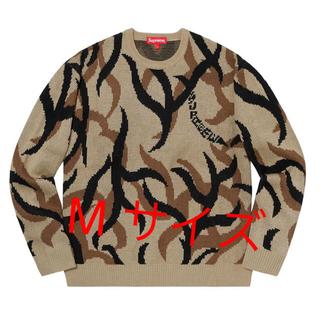 シュプリーム(Supreme)の【Mサイズ】supreme tribal camo sweater tan(ニット/セーター)