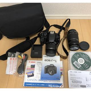キヤノン(Canon)の美品 Canon キャノン 一眼レフデジタルカメラ キス EOS Kiss X4(デジタル一眼)