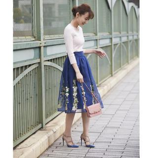 tocco - tocco オーガンジーフラワー刺繍スカート
