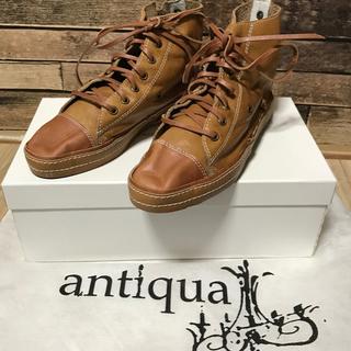 アンティカ(antiqua)のantiqua♛本革スニーカー(スニーカー)