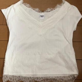 ミスティック(mystic)のmystic レースTシャツ フレンチスリーブ(Tシャツ(半袖/袖なし))