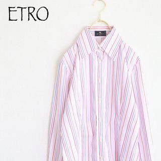 エトロ(ETRO)の【ETRO】イタリア高級ブランド マルチストライプ 長袖シャツ イタリア製☆(シャツ)