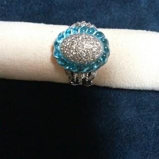 ダイアモンドandブルートパーズリング(リング(指輪))