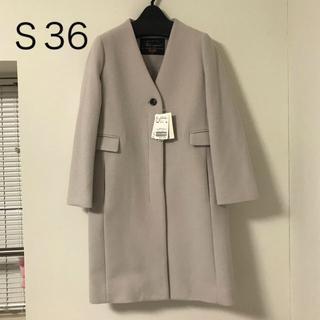 IENA SLOBE - 【未使用】SLOBE IENA★ Vネックノーカラーコート★S36