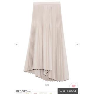 FRAY I.D - 新品未使用タグ付き アシメヘムラインプリーツスカート