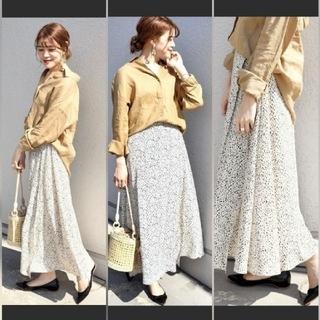 シップス(SHIPS)のSHIPS♡定価17064♡レオパードスカート(ロングスカート)