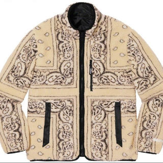 Supreme - s Supreme Reversible Bandana Fleece Tan