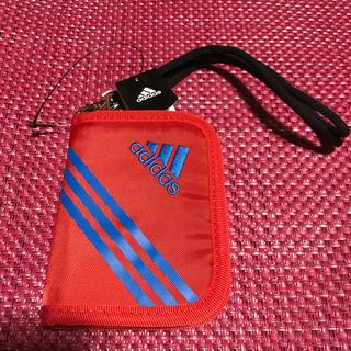 アディダス(adidas)のアディダス リュエル ストラップ付 マジックテープ開閉/ファスナー式 折り財布(財布)