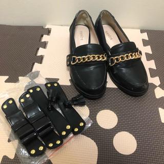ランダ(RANDA)のRANDA♥️3way ローファー S(ローファー/革靴)