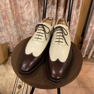 グッチ(Gucci)の美品 GUCCI グッチ ドレスシューズ 革靴 コンビ サイズ41  1/2 E(ドレス/ビジネス)