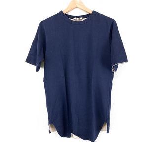 マルニ(Marni)の美品 MARNI マルニ 半袖 トップス 紺 シンプル おしゃれ 人気 ブランド(Tシャツ/カットソー(半袖/袖なし))