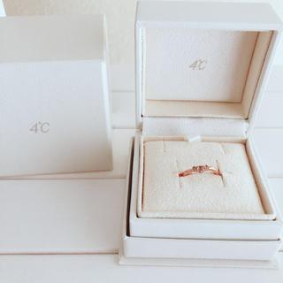 ヨンドシー(4℃)のヨンドシー♡K10ワンポイントダイヤピンクゴールドリング(リング(指輪))