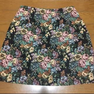 GU - 花柄 スカート