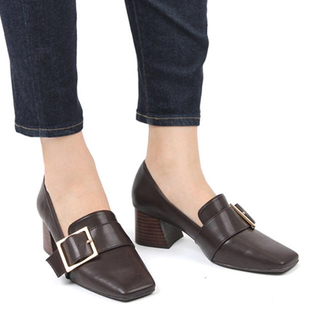 ランダ(RANDA)のRANDA スクエアトゥシューズ(ローファー/革靴)