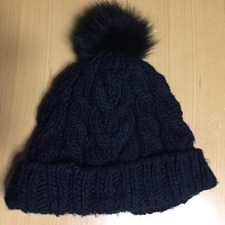 エルディーエス(LDS)の♪値下げ LDS 黒ニット帽(ニット帽/ビーニー)