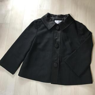 シップス(SHIPS)のシップス!黒美品サテンえりジャケット。(ノーカラージャケット)