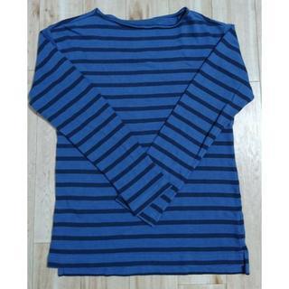 ギャップ(GAP)の【GAP】(XS)ボーダー長袖カットソー 青×濃紺(Tシャツ/カットソー(七分/長袖))