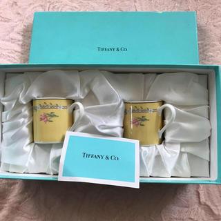 Tiffany & Co. - 【新品】ティファニー♡カップ&ソーサー 2客セット❣️ピンクチューリップ
