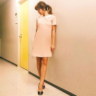 ミュウミュウ(miumiu)の紗栄子さん着用miumiu襟付きワンピース♪38(ミニワンピース)