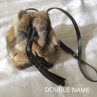 DOUBLE NAME - DOUBLE NAME パッチワークファーバッグ