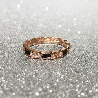 18Kgf ダイヤ蛇 スネークリング  指輪 関節リング ch035(リング(指輪))