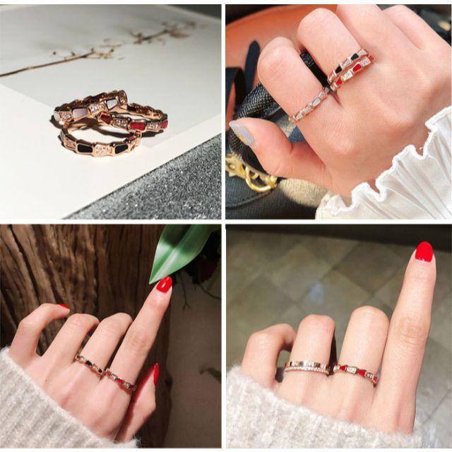 18Kgf ダイヤ蛇 スネークリング  指輪 関節リング ch035 レディースのアクセサリー(リング(指輪))の商品写真