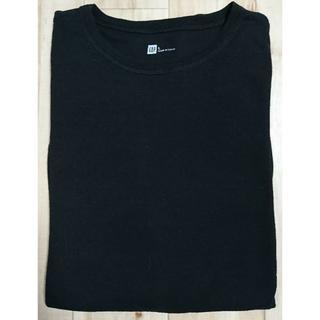 ギャップ(GAP)の【GAP】(L) ワッフル長袖Tシャツ 黒(Tシャツ/カットソー(七分/長袖))