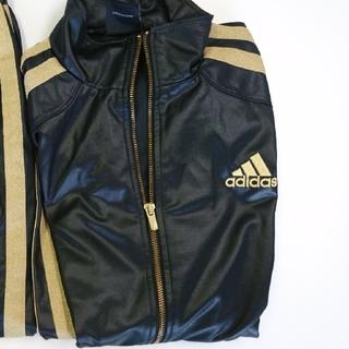 アディダス(adidas)のアディダス ジャージ ブラック×ゴールド 上下セット(ジャージ)