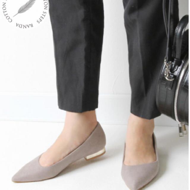 RANDA(ランダ)のランダ/未使用/フラットパンプス21センチ レディースの靴/シューズ(ハイヒール/パンプス)の商品写真