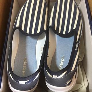 送料無料☆美品☆kappa 27cm  軽量 スリッポン 大きいサイズ 靴(スリッポン/モカシン)