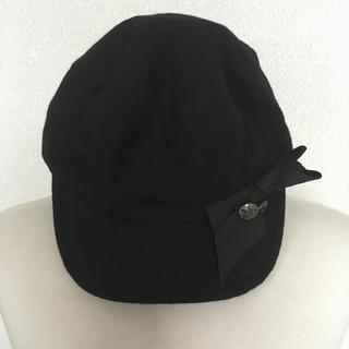 アースミュージックアンドエコロジー(earth music & ecology)のアースミュージック & エコロジー 帽子 リボン ハンチング(ハンチング/ベレー帽)