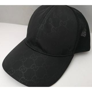 グッチ(Gucci)の☆未使用に近い!☆GUCCI グッチ帽子 インターロッキング ブラック(キャップ)