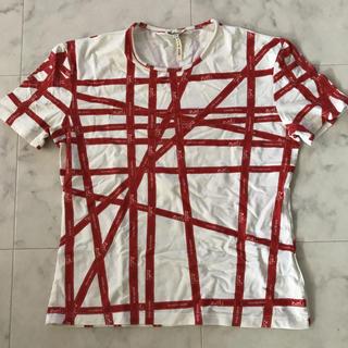 エルメス(Hermes)の美品 HERMES エルメス リボンTシャツ 赤 (Tシャツ(半袖/袖なし))