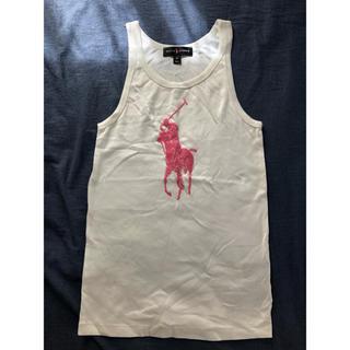 Ralph Lauren - ラルフローレン ピンクポニー ビックポニー ビーズ刺繍 タンクトップ Mサイズ