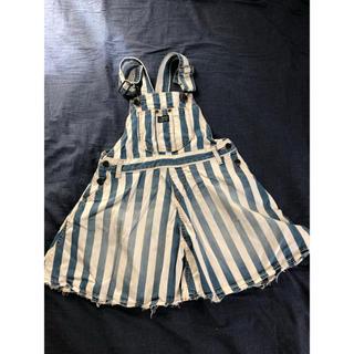 ブリーズ(BREEZE)のBREEZE デニム ストライプ ジャンパースカート Aライン 130cm(スカート)